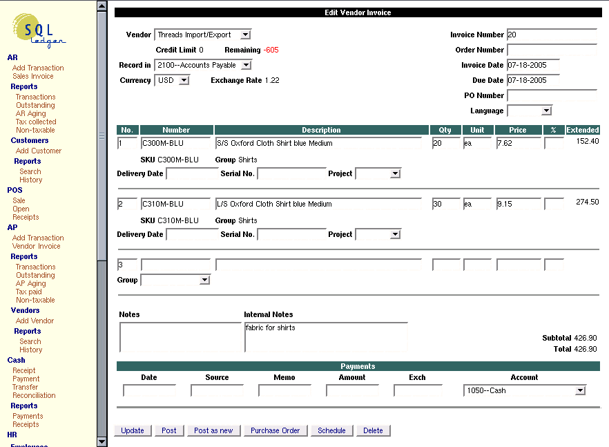 How to fill out invoice
